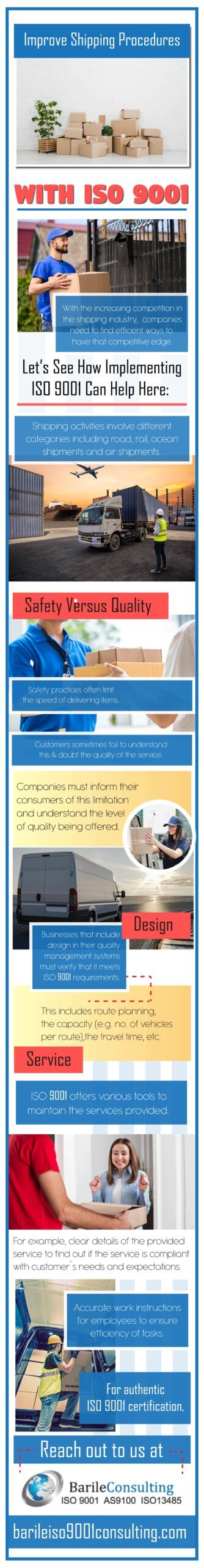 ISO 9001 improve shipping procedure