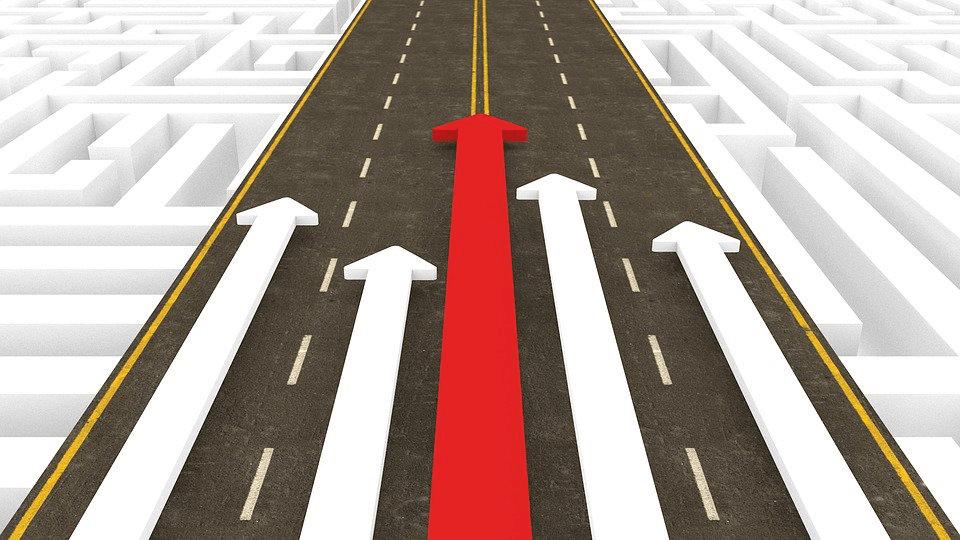 A 3D image depicting competitive advantage