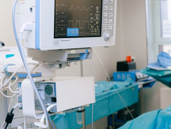 Medical equipment in a hospital